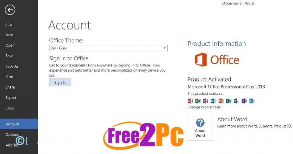 ms office 2013 activator text