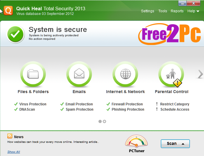quick heal total security full version with crack