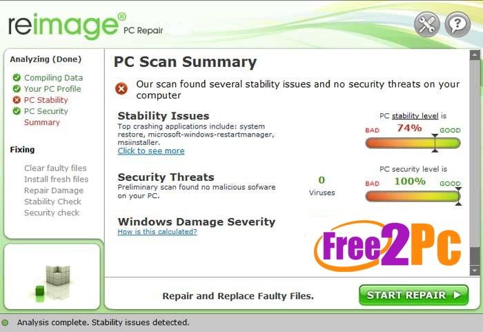 reimage pc repair license key 2018
