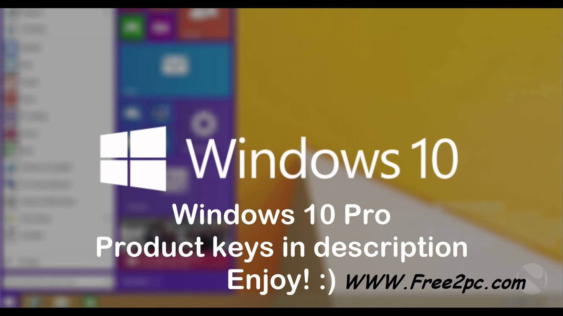 Windows 10 Key Code Free Crack Latest Version 2016