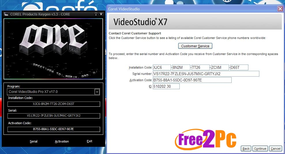 corel videostudio pro x7 keygen and serial number full www free2pc com. Black Bedroom Furniture Sets. Home Design Ideas