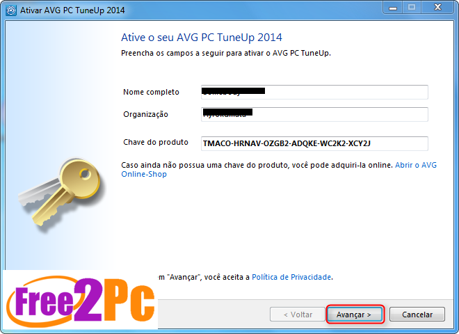 avg pc tuneup 2015 serial number keys license code free