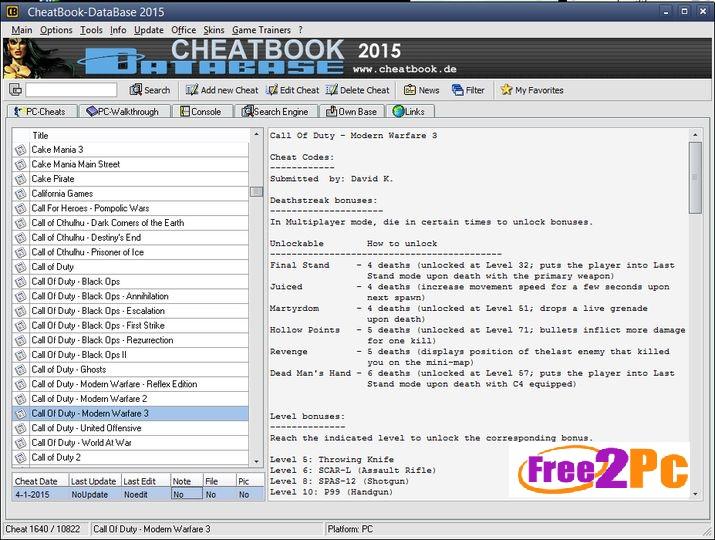cheatbook-database -2015-www-Free2pc-com