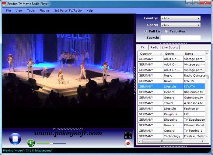 Readon TV Movie Radio Player Free Download Latest Version