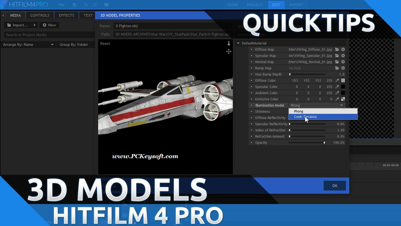 how to add a 3d model to hitfilm