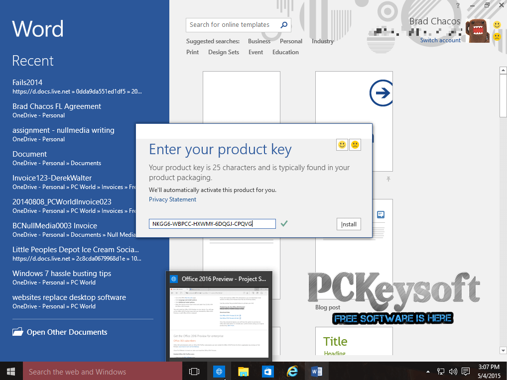 microsoft word 2007 product key free full version