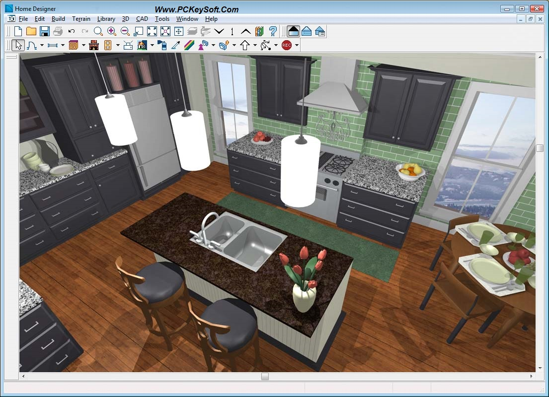 Kitchen furniture interior design software pro 100 for Build my house online free